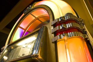 Low angle view of a classic jukebox