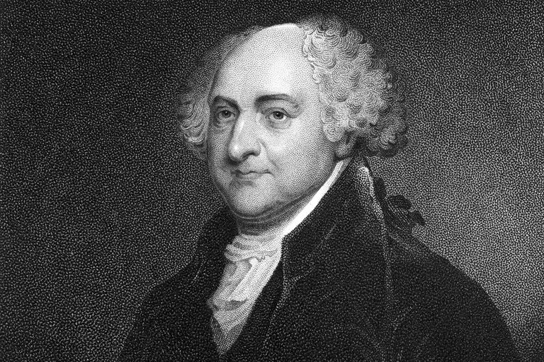 Engraved portrait of President John Adams