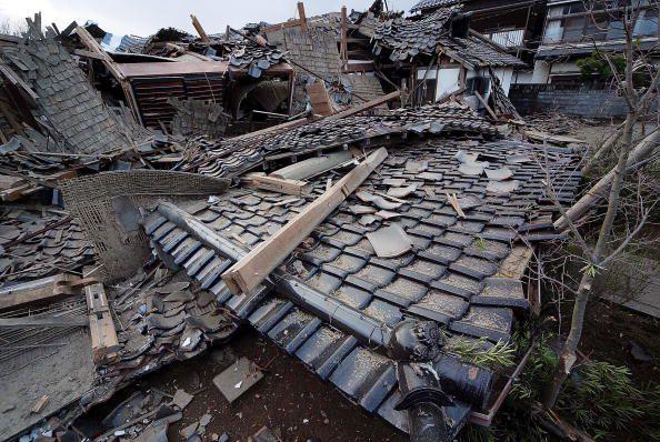 Collapsed Houses in Wajima, Japan
