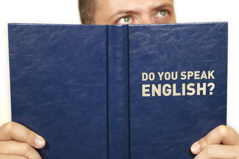 Man reading English book