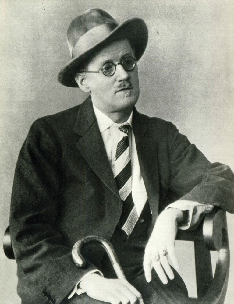 Portrait of Irish writer James Joyce