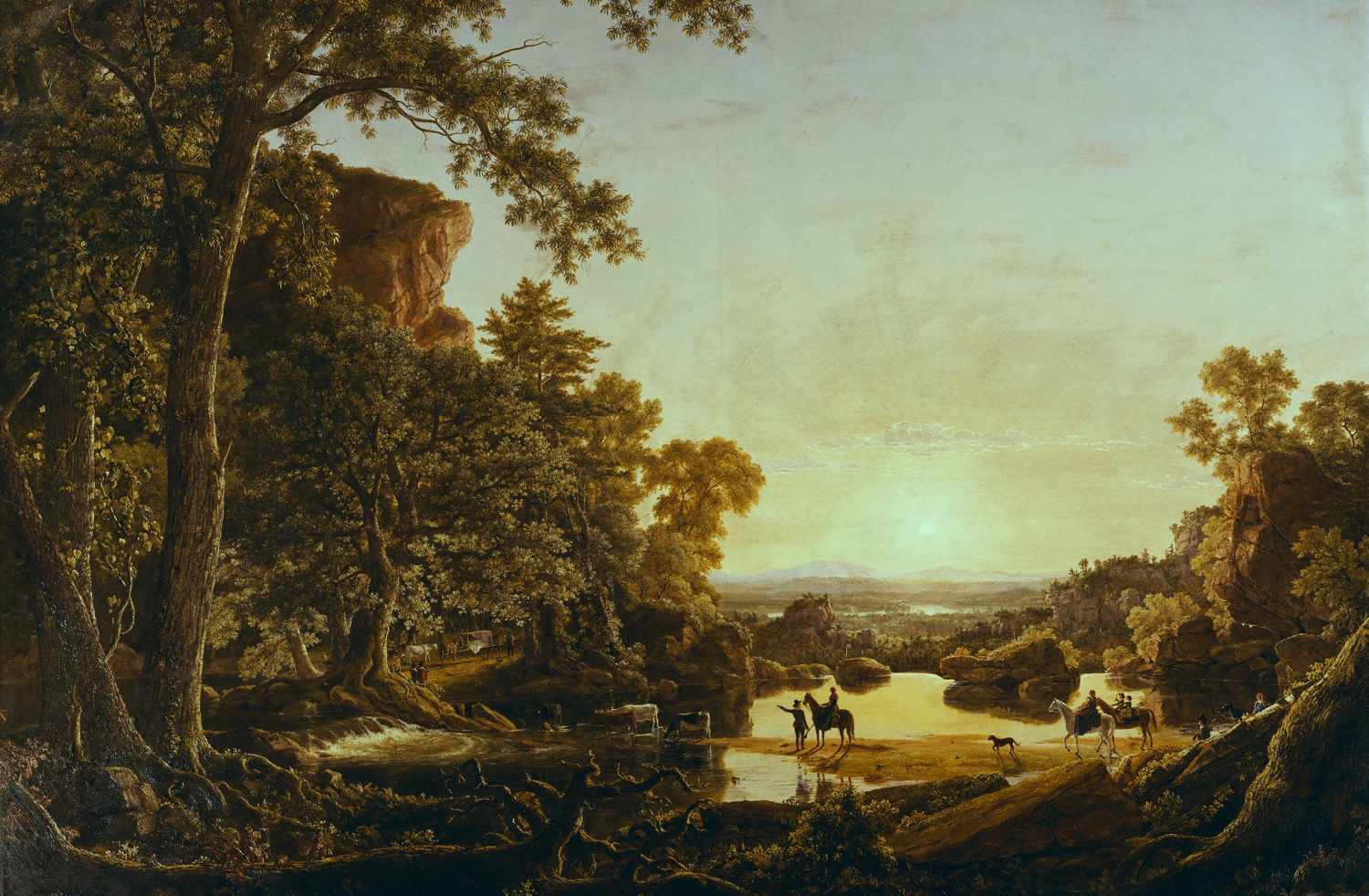 frederic edwin church hooker's party coming to hartford