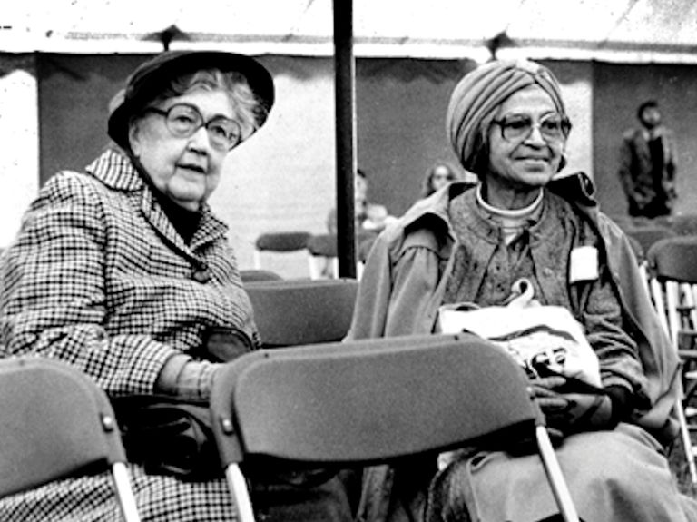 Virginia Durr and Rosa Parks