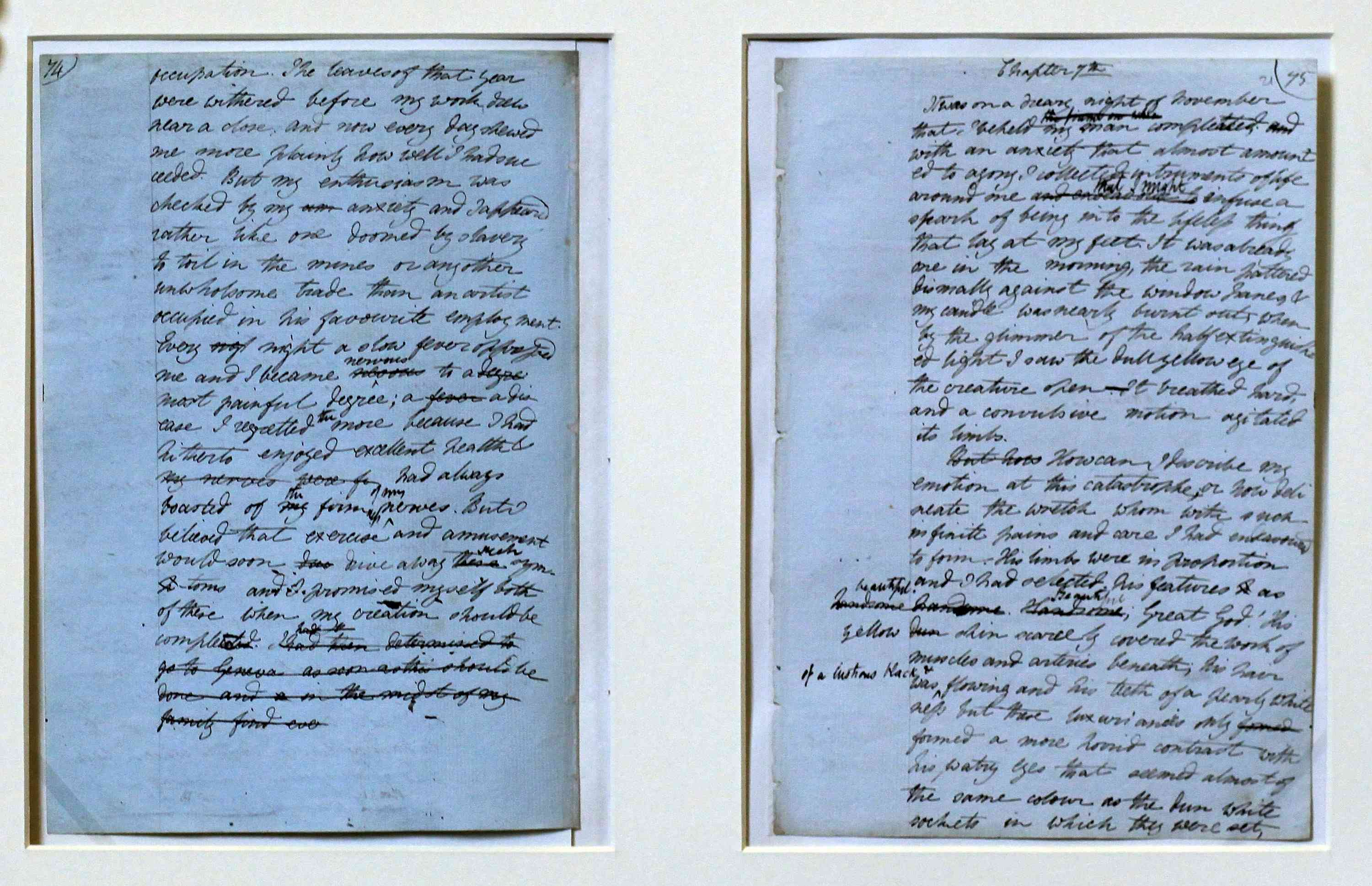 Mary Shelley Manuscripts Form Part Of An Exhibition At The Bodleian Library