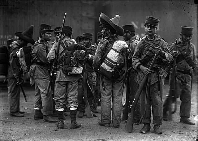 Young soldiers ready to mobilize Federal Troops in 1913