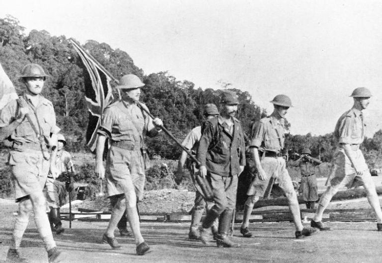 Soldiers during the Battle of Singapore