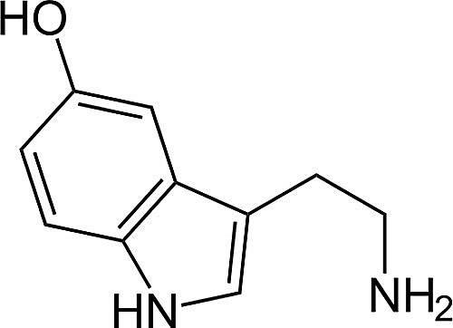 Esta es la estructura química de la serotonina.