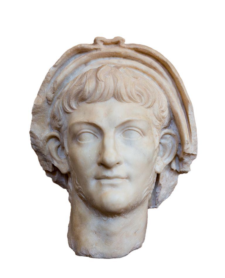 A bust of Roman Emperor Nero.