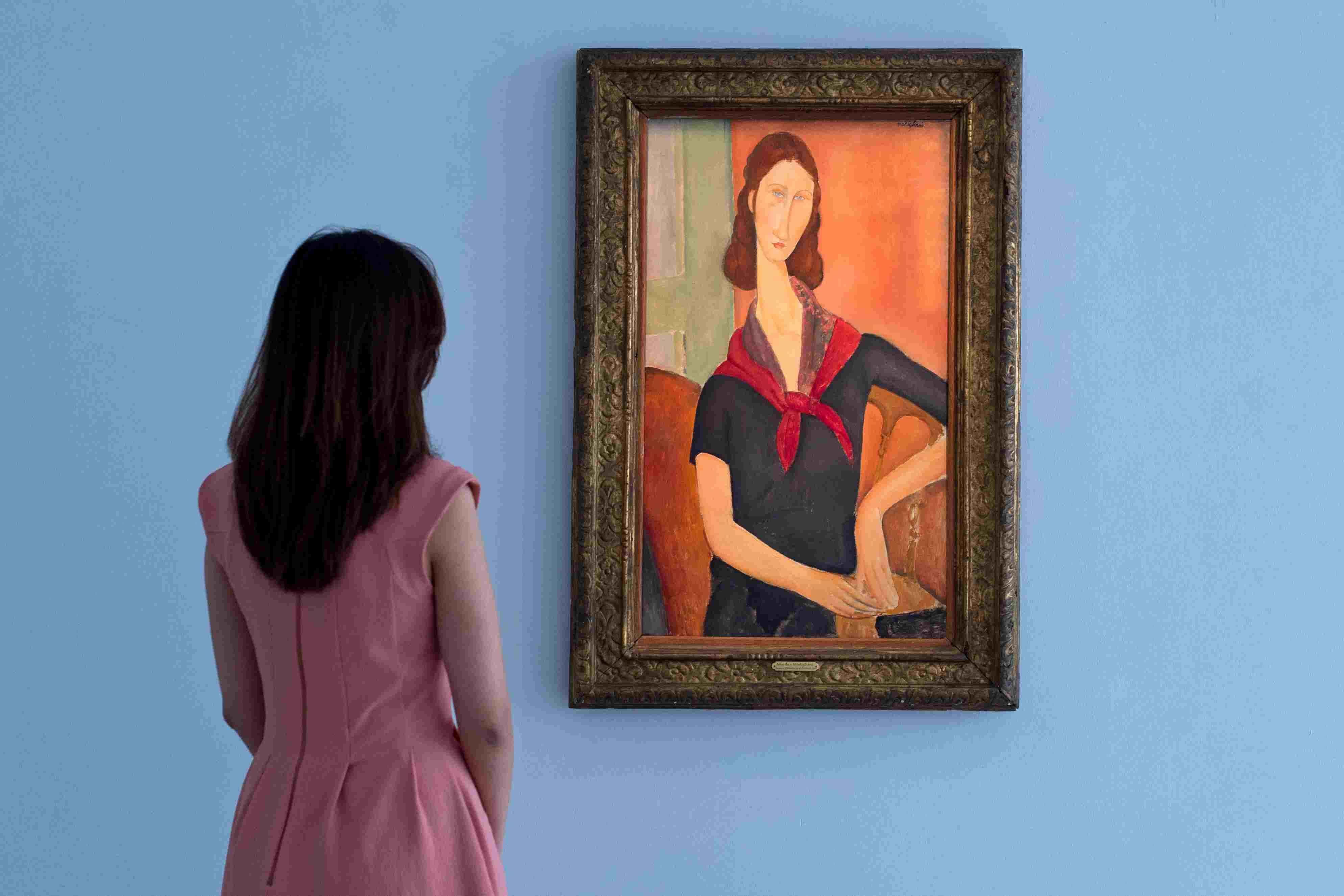 Portrait of Jeanne Hebuteme by Amadeo Modigliani