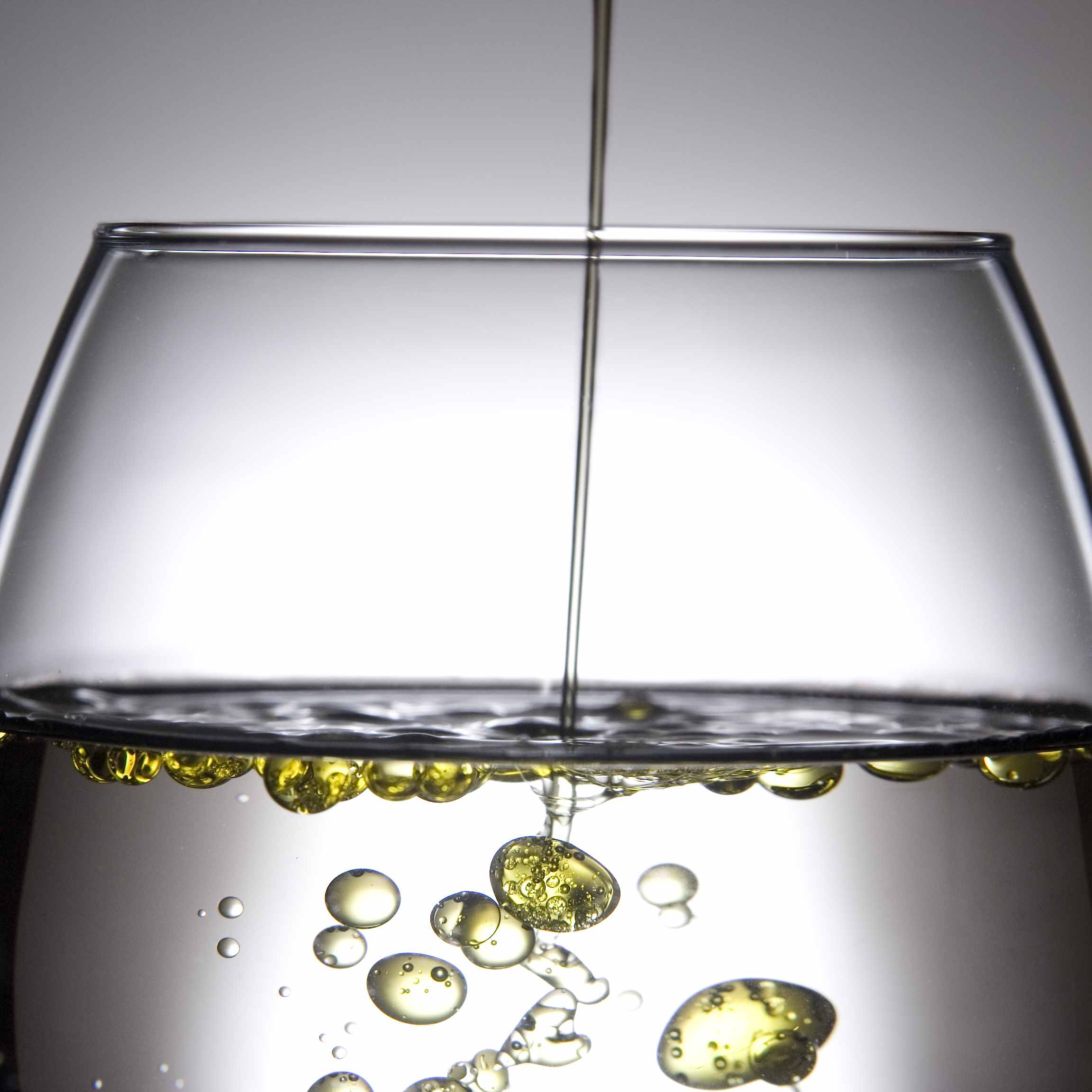 Fluids that don't mix are said to be immiscible.