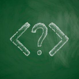 HTML question mark