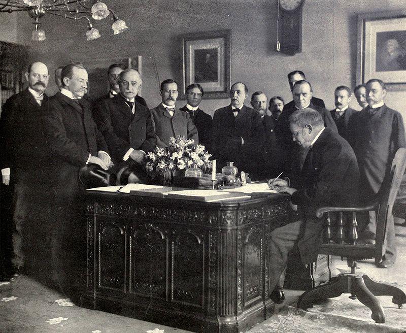 Treaty of Paris signing