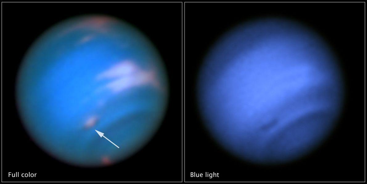 Dark spots on Neptune