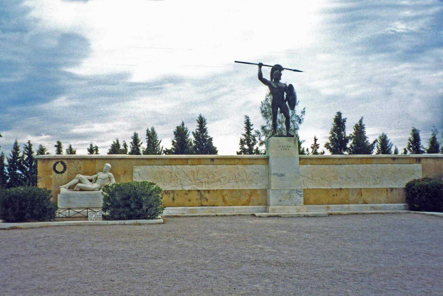 Monument to King Leonidas and the Spartans at Thermopylae