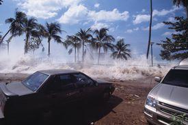 Tsunami on Ao Nang Beach, Thailand, 2004