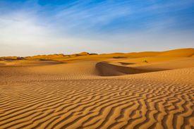 wave pattern desert landscape, oman