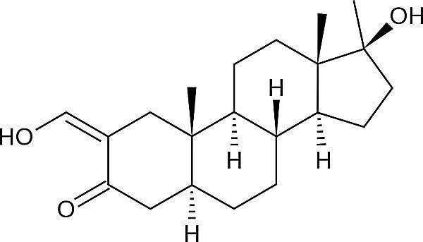 Esta es la estructura química de la oximetolona.