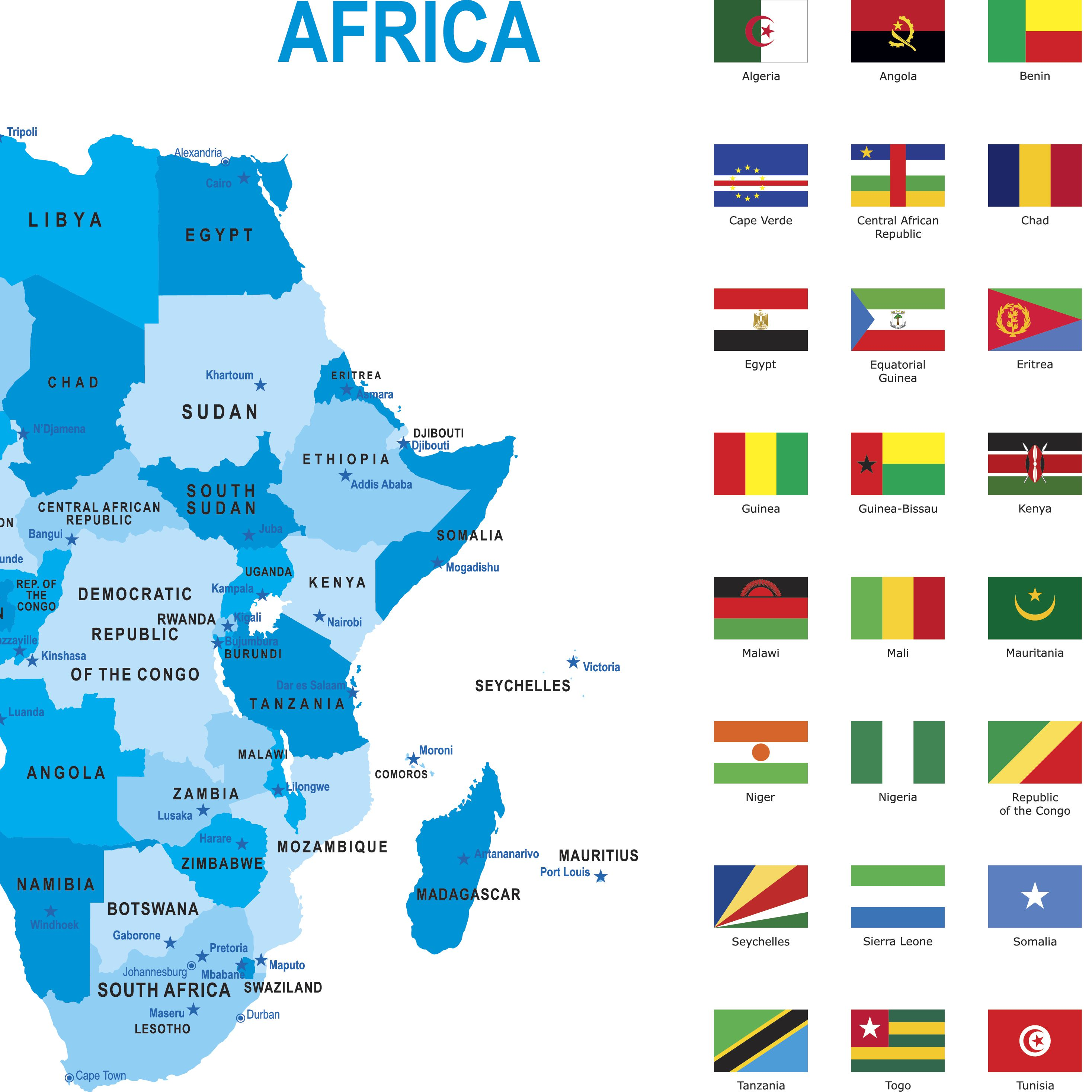 Countries Containing The Letter Z.Alphabetical List Of All African Countries