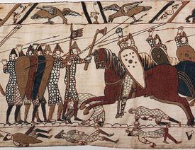 Fighting at the Battle of Hastings