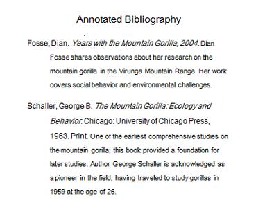written bibliography