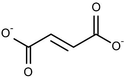 This is the chemical structure of the fumarate (2-) anion.