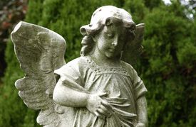A statue at Green-Wood Cemetery in Brooklyn