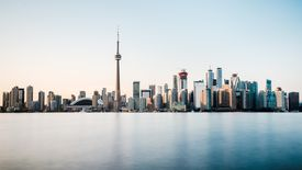 Cn Tower and skyline in Toronto, Canada