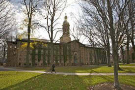 student on Princeton campus