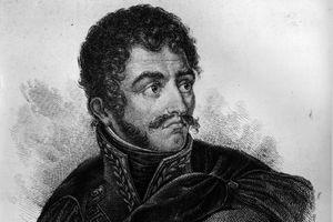 Simon Bolivar in black and white