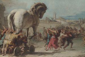 Artist rendering of the Trojan Horse.