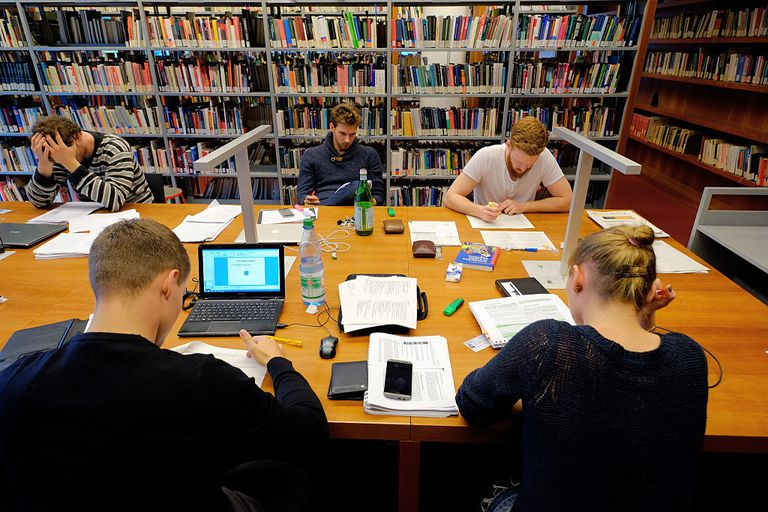 classification - students in library