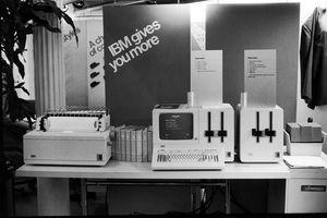 An IBM computer display
