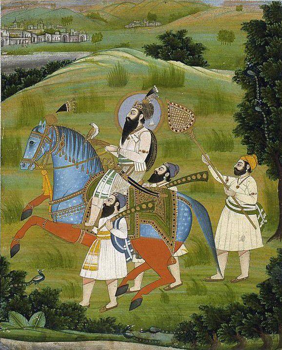 Portrait of the Tenth Guru, Gobind Singh, c. 1830