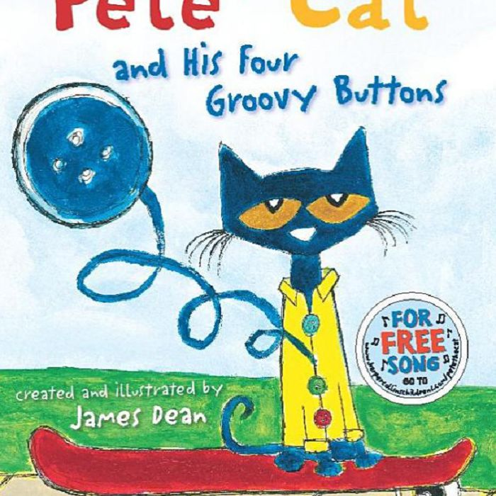 Pete the Cat and His Four Groovy Buttons por James Dean y Eric Litwin cover