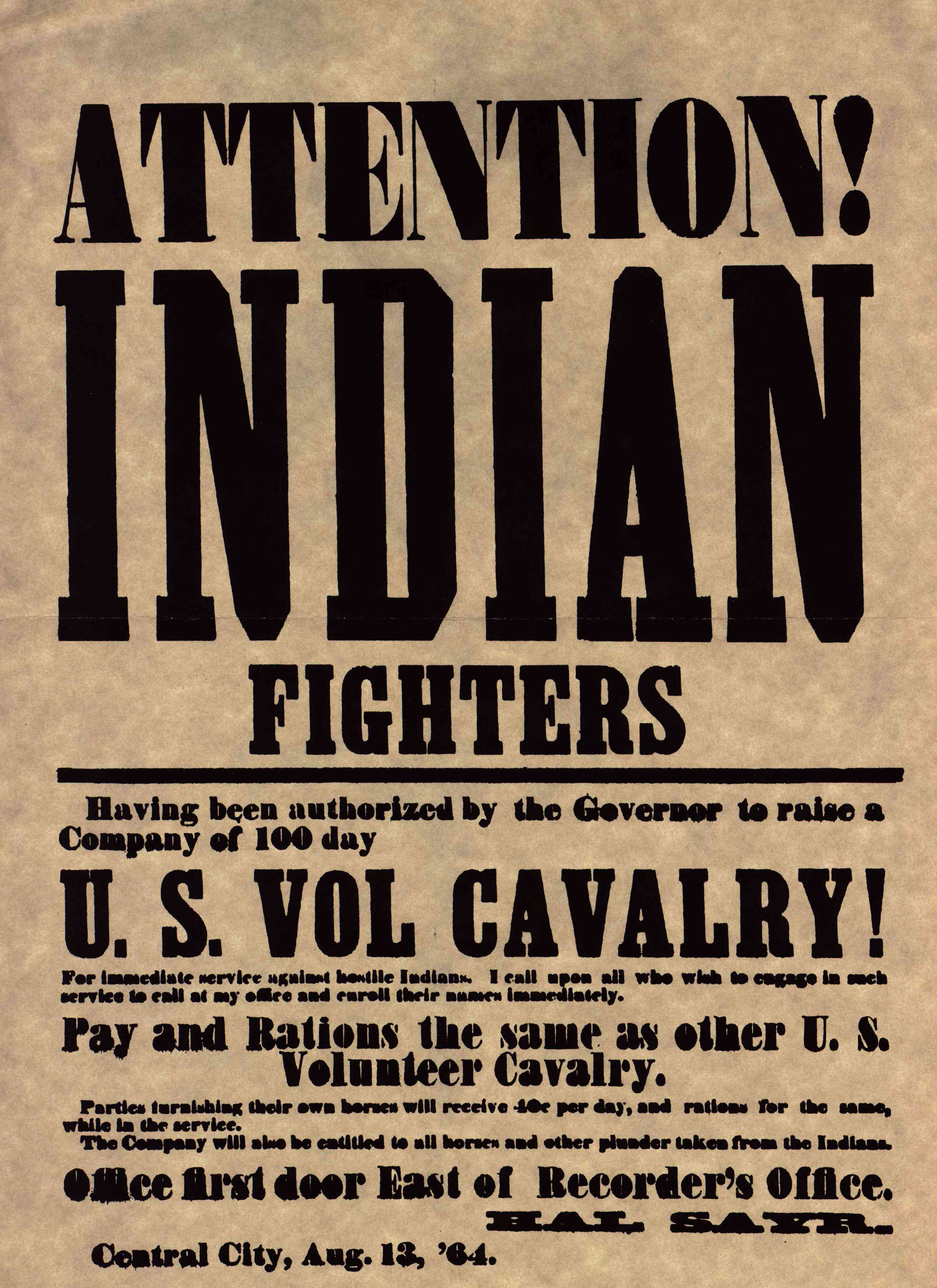 Recruiting poster for volunteers.
