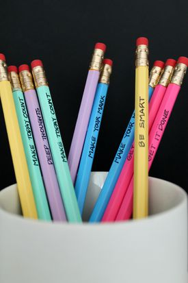 Painted pencils