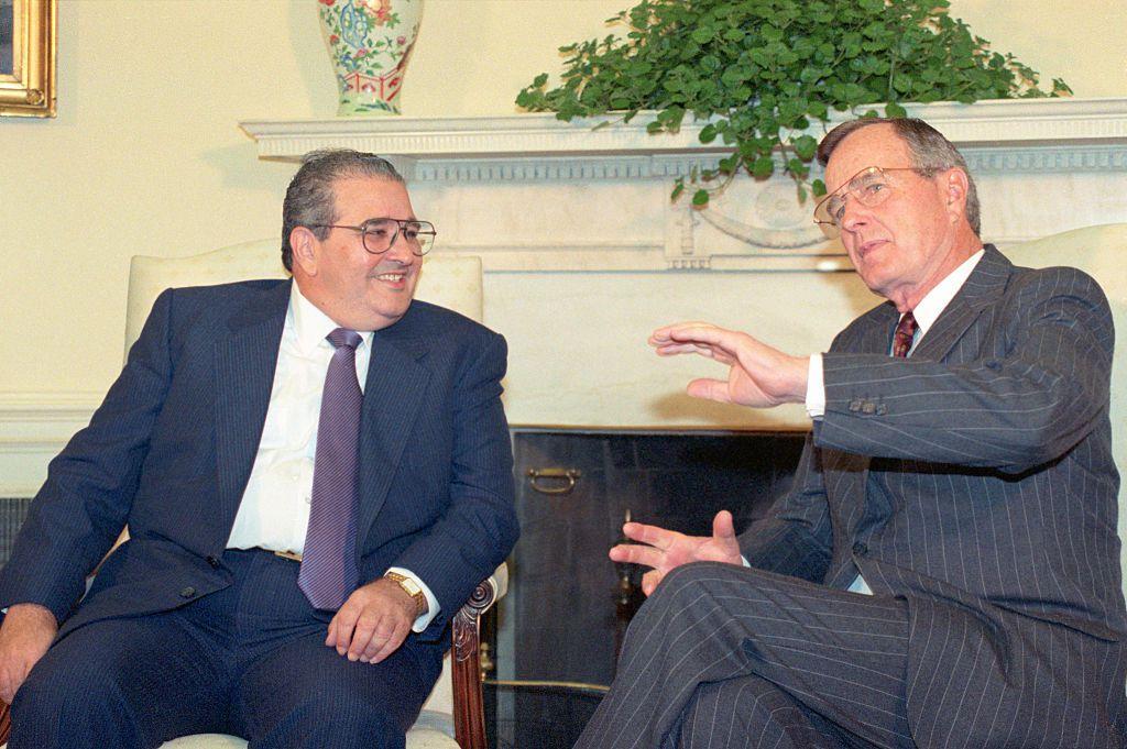 President Bush with Panamanian President Endara