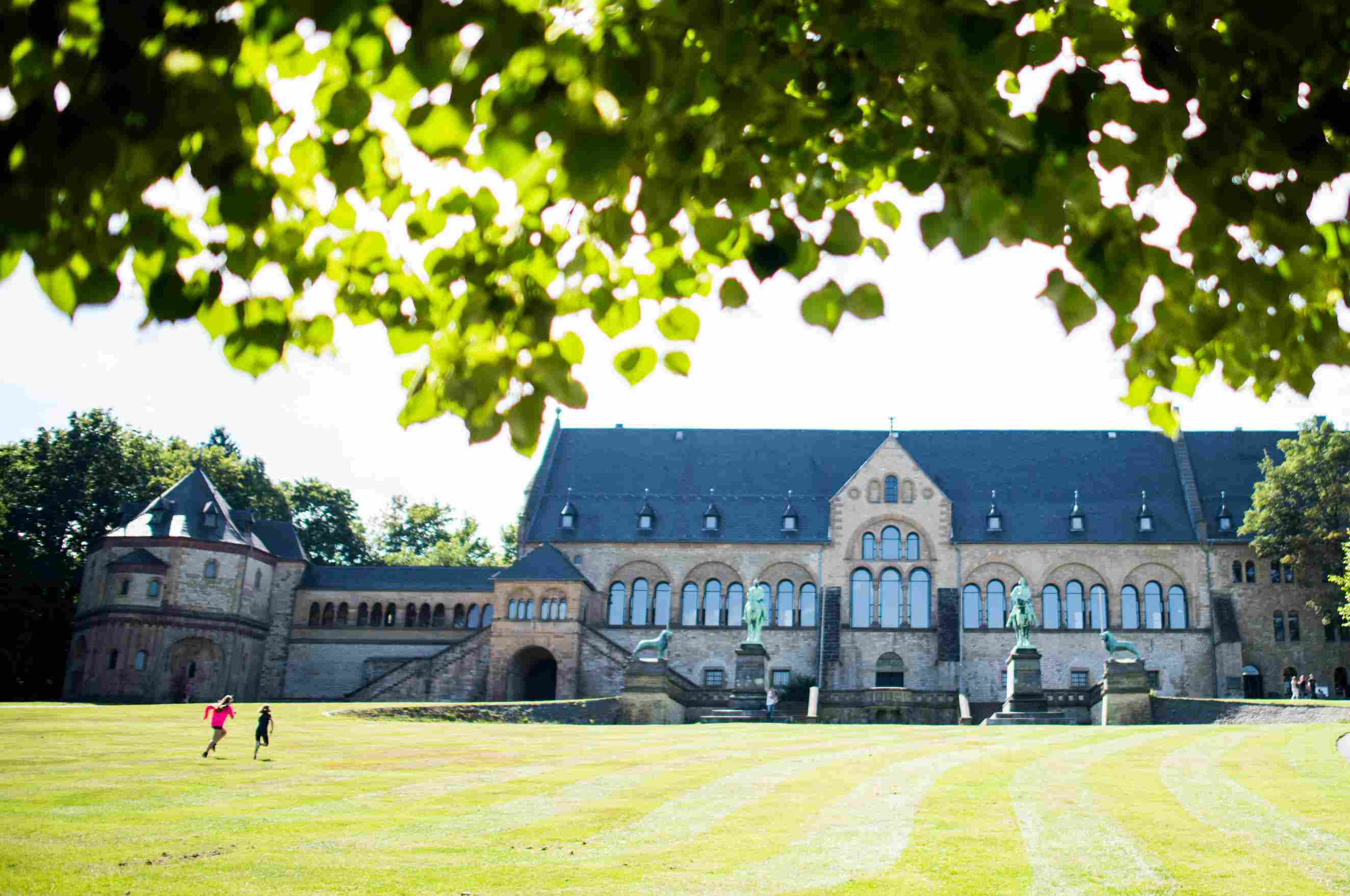 Secular Romanesque Kaiserpfalz Imperial Palace in Goslar, Germany, Built in 1050 AD