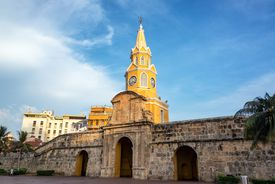 Clock Gate and Tower in Cartagena, Colombia