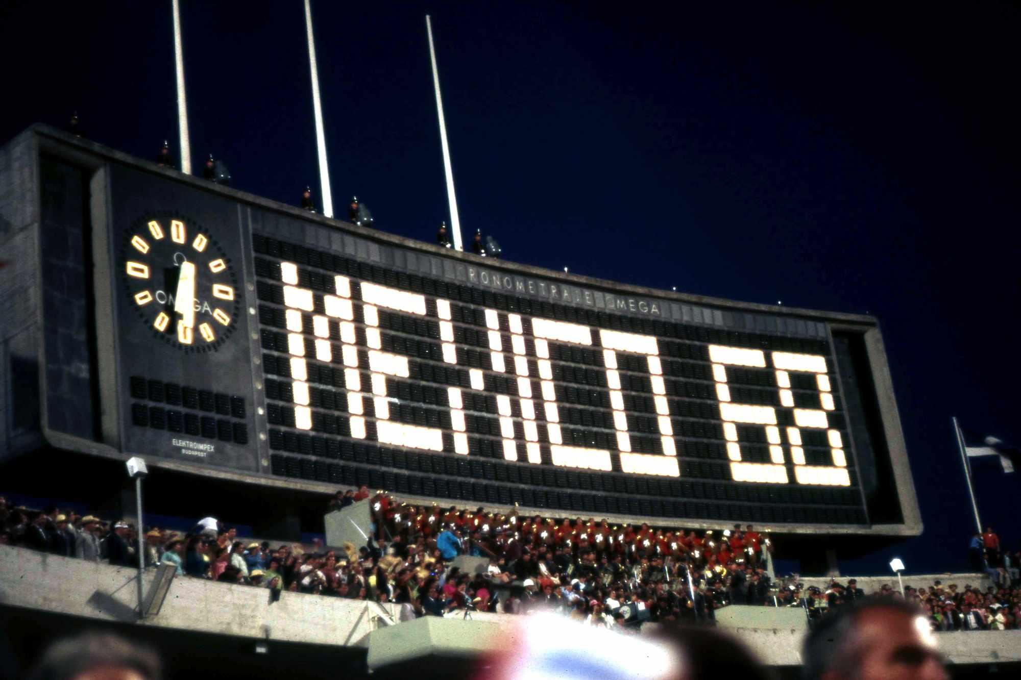Closing of the 1968 Summer Olympic Games at the Estadio Olímpico Universitario in Mexico City