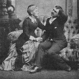Hedvig Winterhjelm and August Lindberg in Ibsen's play Ghosts