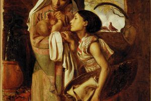 Simeon Solomon Painting: The Mother of Moses