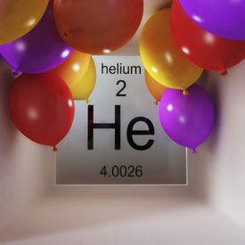 Helium is element atomic number 2 on the periodic table.