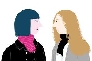 two female cartoons