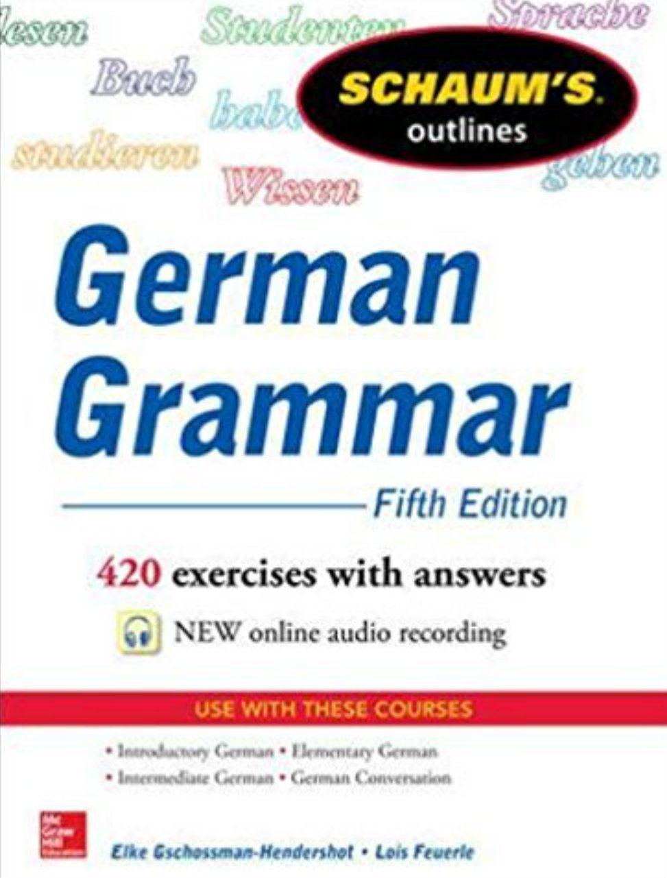 Schaum's Outlines: German Grammar