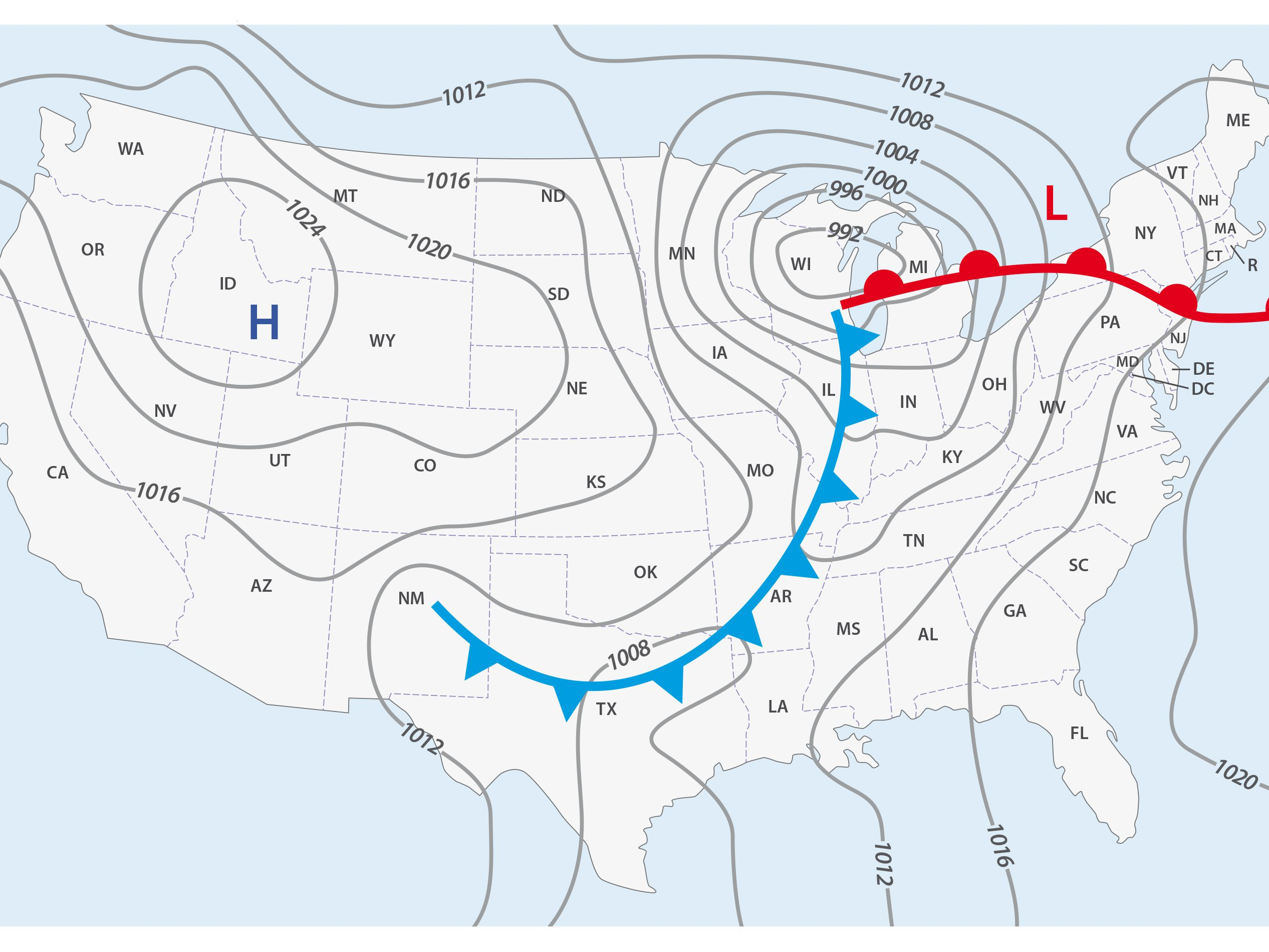 Weather Map With Fronts Do You Know What a Weather Front Is?