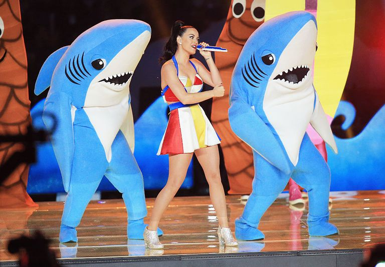 Katy Perry performing during Super Bowl XLIX
