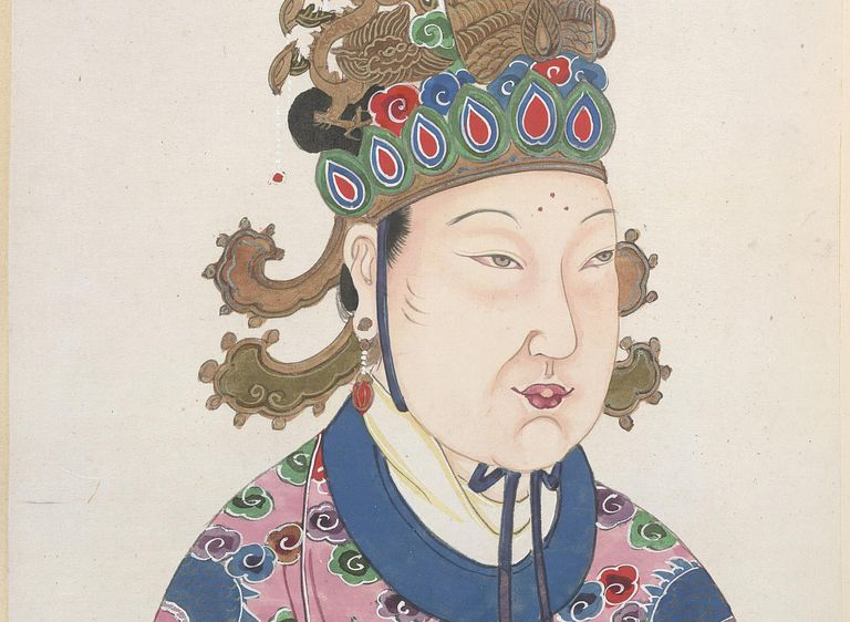 Painting of Empress Wu Zetian of China