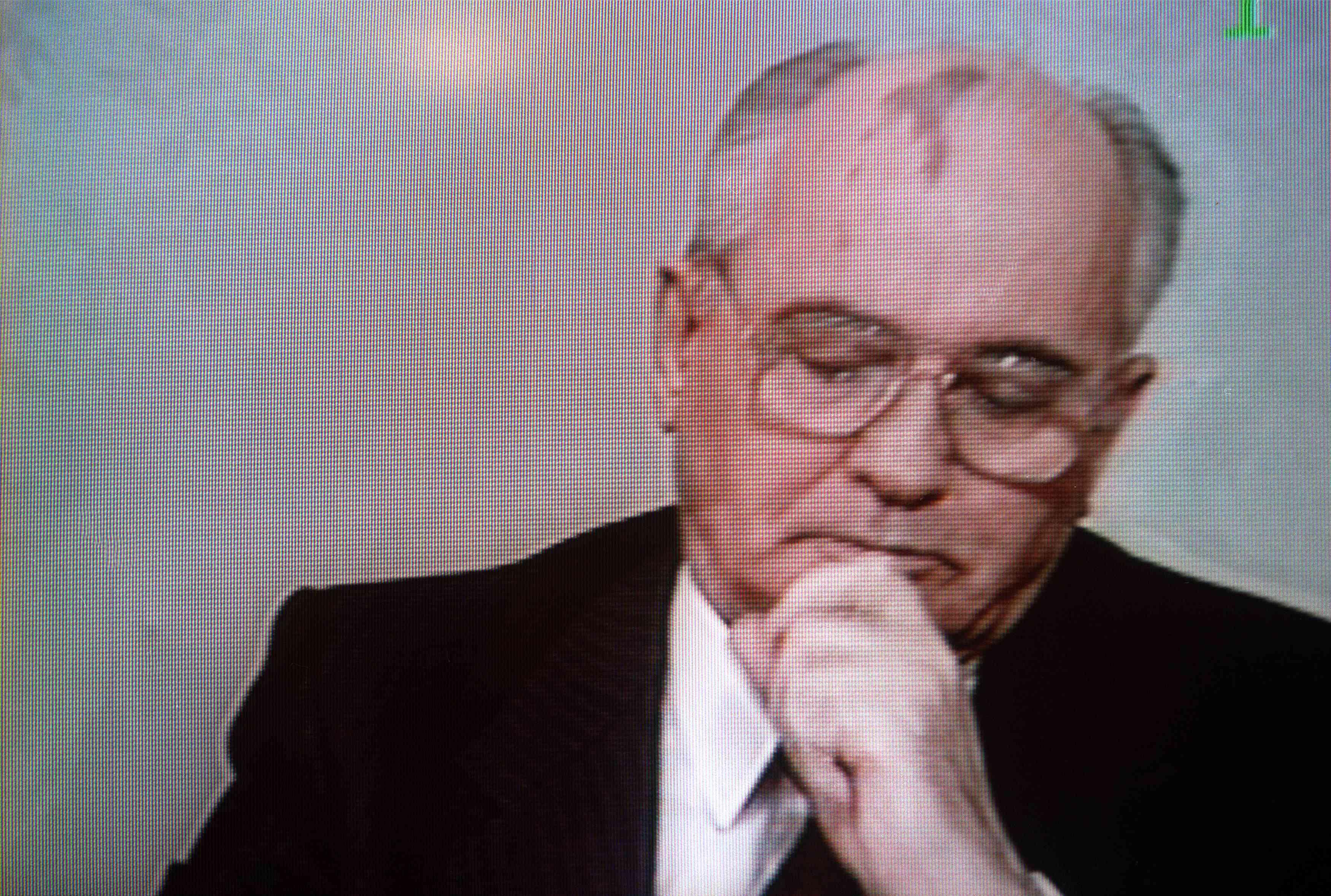 Soviet President Mikhail Gorbachev looks
