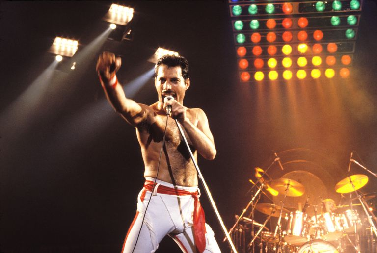 Eddie Mercury of Queen performs onstage
